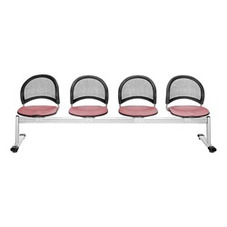 Moon Series Beam Seating - Four Seats w/ out Table - Coral Pink