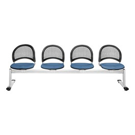 Moon Series Beam Seating - Four Seats w/ out Table - Cornflower Blue