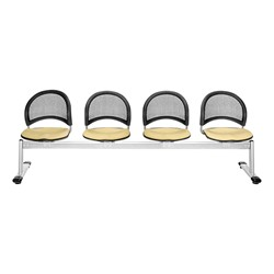 Moon Series Beam Seating - Four Seats w/ out Table - Golden Flax