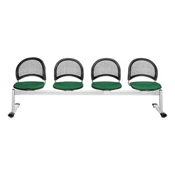 Moon Series Beam Seating - Four Seats w/ out Table - Forest Green
