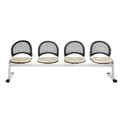Moon Series Beam Seating - Four Seats w/ out Table - Khaki