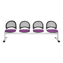 Moon Series Beam Seating - Four Seats w/ out Table - Plum