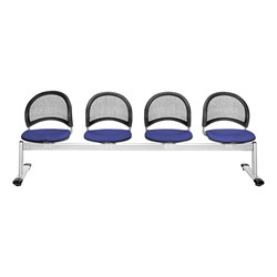 Moon Series Beam Seating - Four Seats w/ out Table - Royal Blue