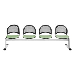 Moon Series Beam Seating - Four Seats w/ out Table - Sage Green