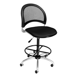 Moon Series Swivel Stool w/ out Arms - Black