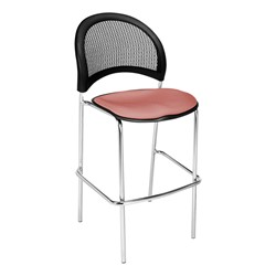 Moon Series Cafe Stool - Coral Pink