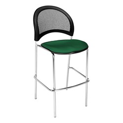 Moon Series Cafe Stool - Forest Green