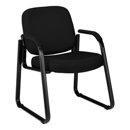 Fabric Waiting Room Chair w/ Arm Rests - Black