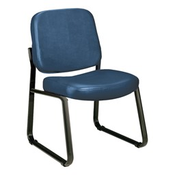 Antimicrobial Vinyl Waiting Room Chair w/out Arm Rests - Navy
