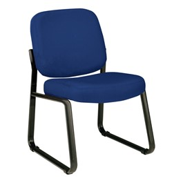 Fabric Waiting Room Chair w/out Arm Rests - Navy