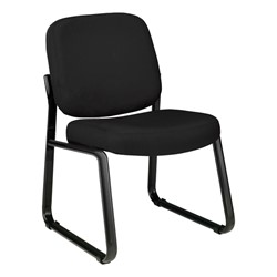 Fabric Waiting Room Chair w/out Arm Rests - Black