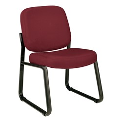 Fabric Waiting Room Chair w/out Arm Rests - Wine