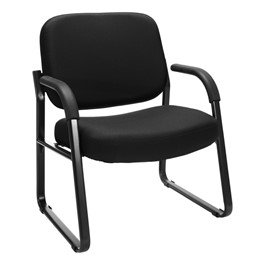Big & Tall Fabric Guest Chair w/ Arms - Black