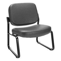 Big & Tall Antimicrobial Vinyl Guest Chair w/o Arms - Charcoal