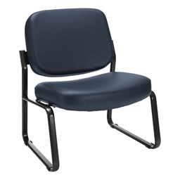 Big & Tall Antimicrobial Vinyl Guest Chair w/o Arms - Navy