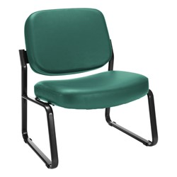 Big & Tall Antimicrobial Vinyl Guest Chair w/o Arms - Teal