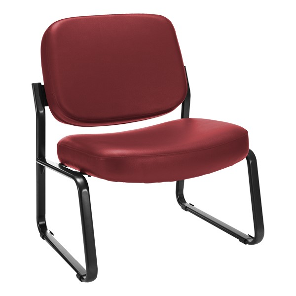 Big & Tall Antimicrobial Vinyl Guest Chair w/o Arms - Wine