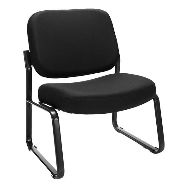 Big & Tall Fabric Guest Chair w/o Arms - Black