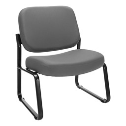 Big & Tall Fabric Guest Chair w/o Arms - Gray