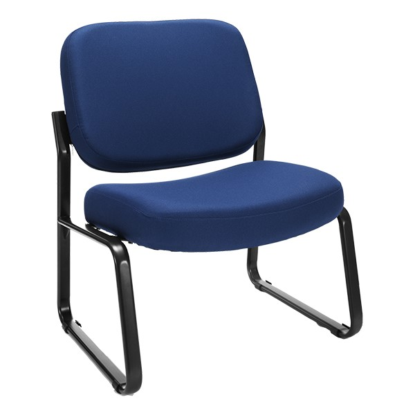 Big & Tall Fabric Guest Chair w/o Arms - Navy
