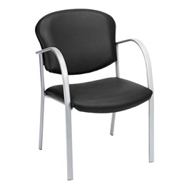 Contemporary Antimicrobial Vinyl Chair - Black