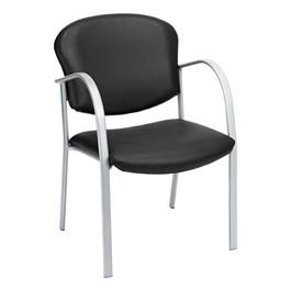Contemporary Antimicrobial Vinyl Chair - Black