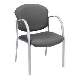 Contemporary Fabric Chair - Graphite