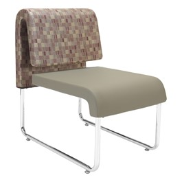 UNO Series Lounge Seating - Lounge Chair - Taupe seat / Plum back