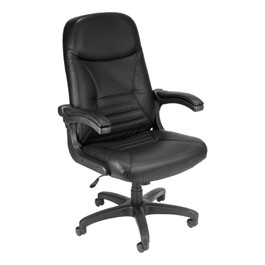 Mobile-Arm Chair - Leather - Black