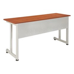 OFM Modular Training Table shown in cherry