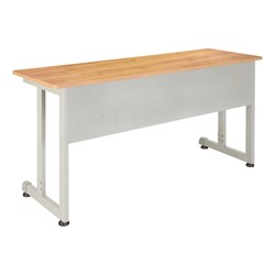 OFM Modular Training Table shown in maple