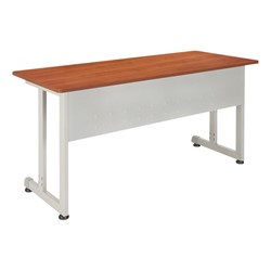Modular Training Table shown in cherry