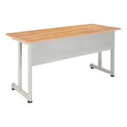 Modular Training Table shown in maple