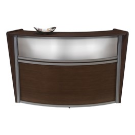 Marque Reception Station w/ Plexi-Front - Single - Shown in walnut