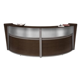 Marque Reception Station w/ Plexi-Front - Double - Shown in walnut