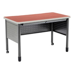 "Modular Teacher Desk w/ Two Pencil Drawers (48"" W x 26"" D) - Cherry"