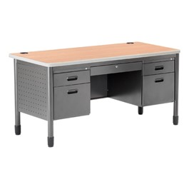 Double-Pedestal Teacher Desk