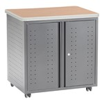 Utility, Fax & Copy Rolling Storage Cabinet w/ Doors