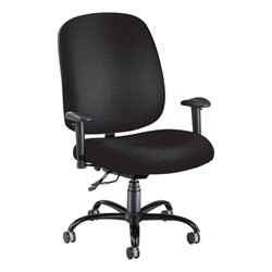 Extra-Large Task Chair w/ Arm Rests - Black