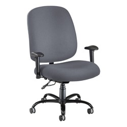 Extra-Large Task Chair w/ Arm Rests - Gray