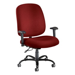 Extra-Large Task Chair w/ Arm Rests - Wine