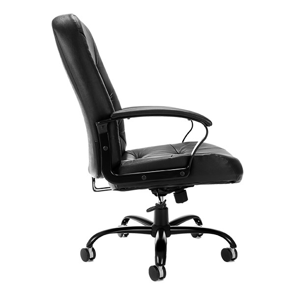 Leather Big & Tall Office Chair - Side view