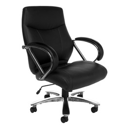 Avengers Series Big & Tall Executive Chair - Mid Back - Black