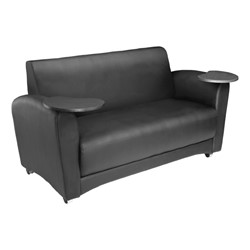 Lounge Seating w/ Tablet Arm - Loveseat - Black seat & back