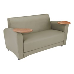 Lounge Seating w/ Tablet Arm - Loveseat - Taupe seat & back