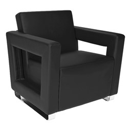 Distinct Series Antimicrobial Lounge Seating - Chair - Black