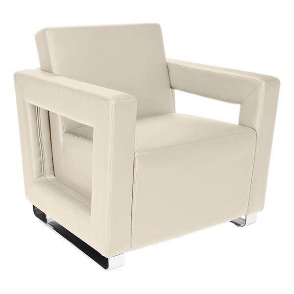 Distinct Series Antimicrobial Lounge Seating - Chair - Cream