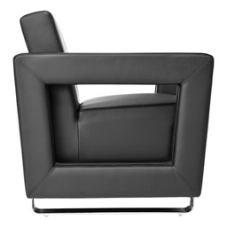 Distinct Series Antimicrobial Lounge Seating - Chair - Side view