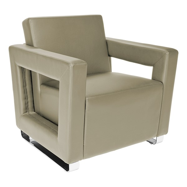 Distinct Series Antimicrobial Lounge Seating - Chair - Taupe