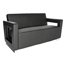Distinct Series Antimicrobial Lounge Seating - Sofa - Black